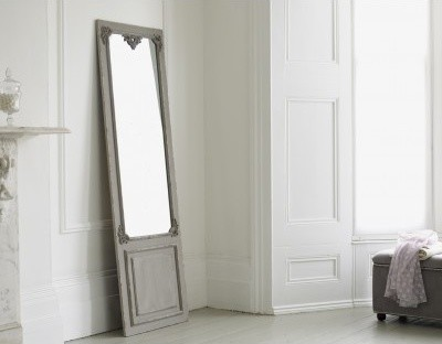 Full Length Mirror   Maison Distressed Hanging Mirror In Grey Rustic Floor  Mirrors