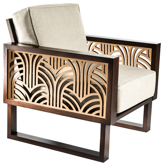 contemporary art furniture. Twist Modern Art Deco Lounge Chair, Espresso/Natural Contemporary Art Furniture H