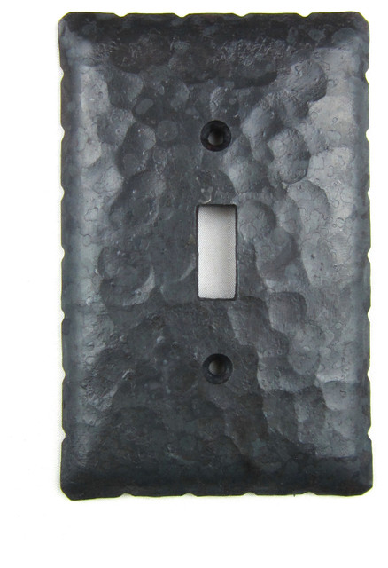 Rustic Rancho Style Hammered Iron Switch Plate Cover
