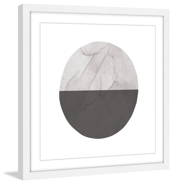 """Red Hill Floating Bathroom Vanity By Retrograde Furniture: """"Half Circle"""" Framed Painting Print"""