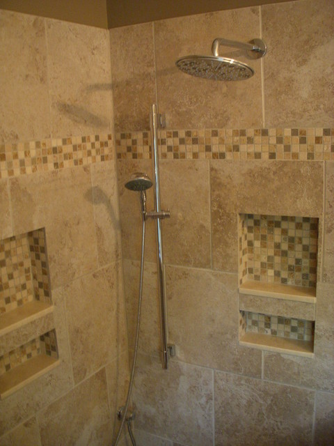Master Bath with walk-in shower - Traditional - Boston