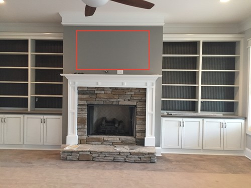 Size Of TV To Mount Over Fireplace