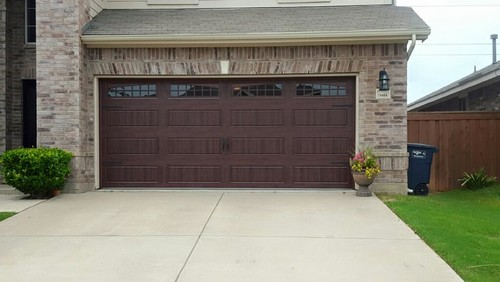 Before  After 16x7 Garage Door