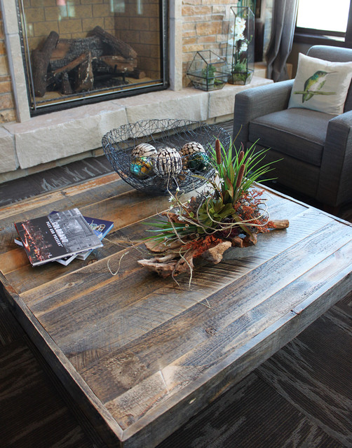 Reclaimed Wood Square Coffee Table Industrial Denver
