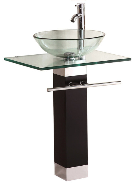 Bathroom Vanities For Vessel Sinks modern bathroom vanity with tempered glass vessel sink, 23
