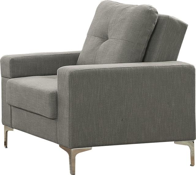 Pleasant Acme Dorian Adjustable Futon Arm Chair Gray Linen Cjindustries Chair Design For Home Cjindustriesco