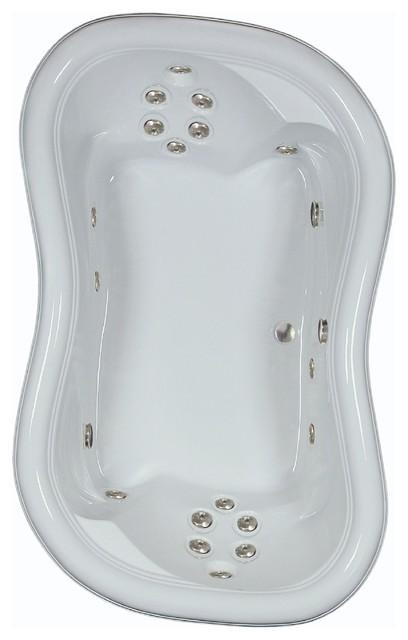 """78""""l X 52""""w Airbath White Whirlpool Bath."""