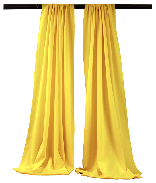 "Claremont Backdrop Drape, Set Of 2, Light Yellow, 58""x96""."