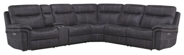 Parker Living Mason Charcoal Modular 6 Piece Sectional Sofa