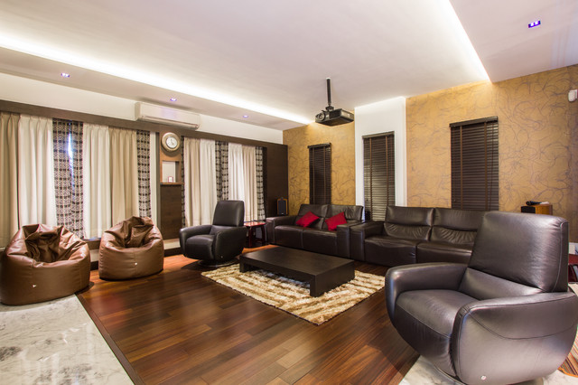 M2 House modern-home-theater