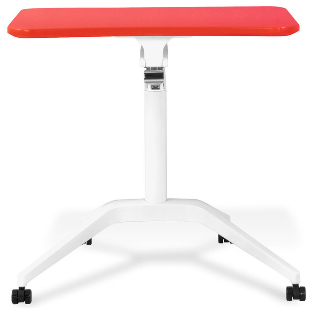 Workpad Height Adjustable Laptop Desk, Red.
