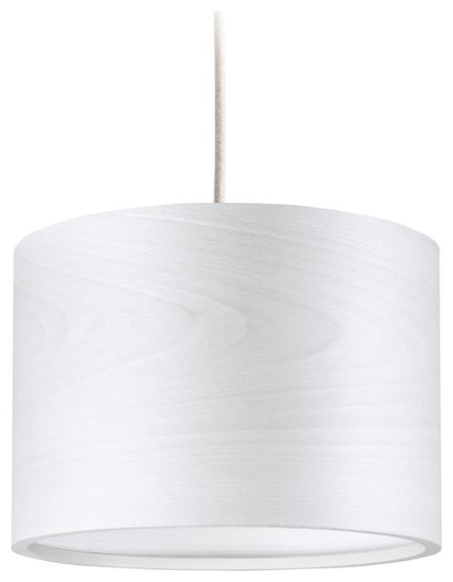 Long Veneli Pendant Light, White Ash Veneer