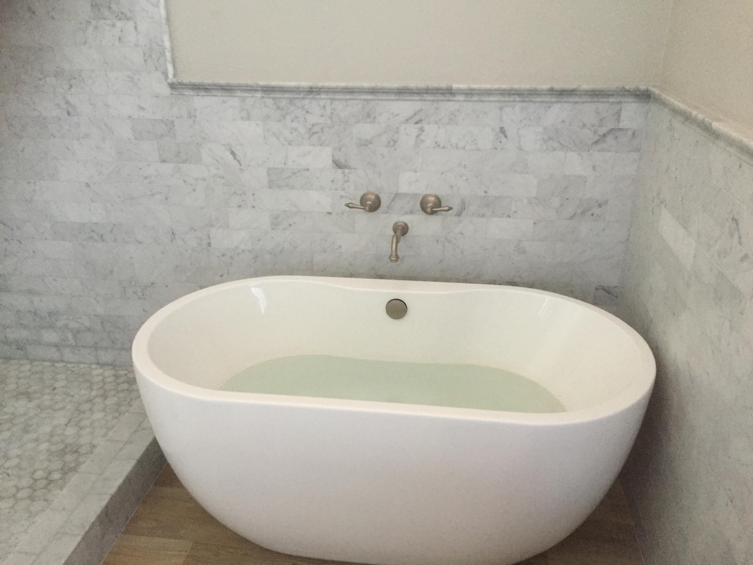 Carrara Marble Shower