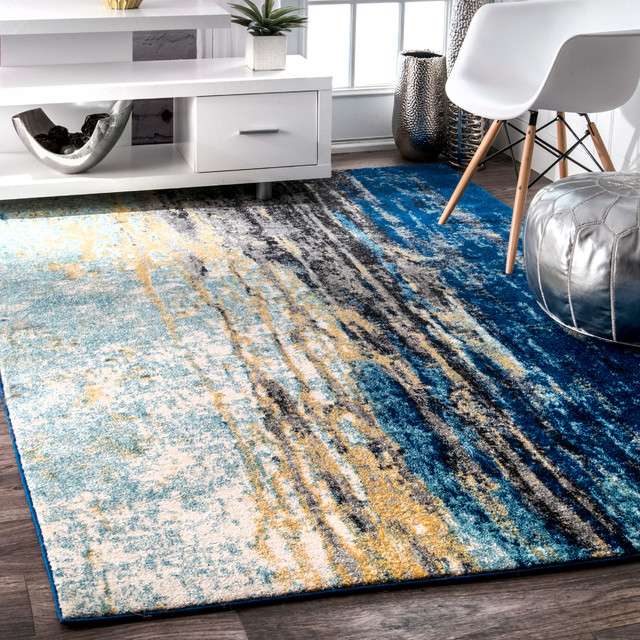 "Katharina, Machine Made Area Rug, Blue, 5""x7'5"""