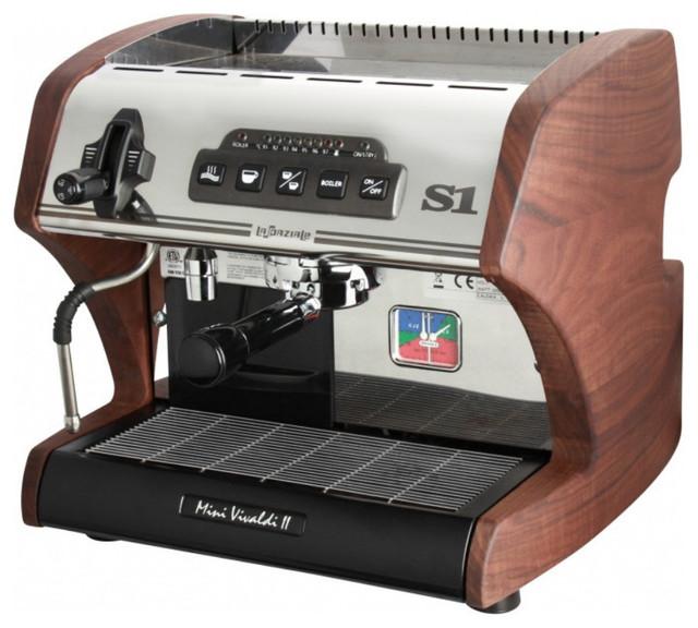 La Spaziale S1 Mini Vivaldi II Espresso Machine, Walnut, No