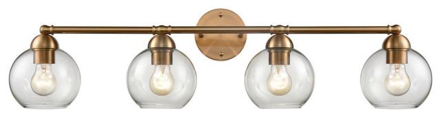 Astoria 4-Light Vanity Light in Satin Gold