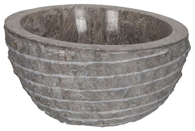grey high marble vessel sink 41 cm rustic bathroom sinks by vasque import. Black Bedroom Furniture Sets. Home Design Ideas