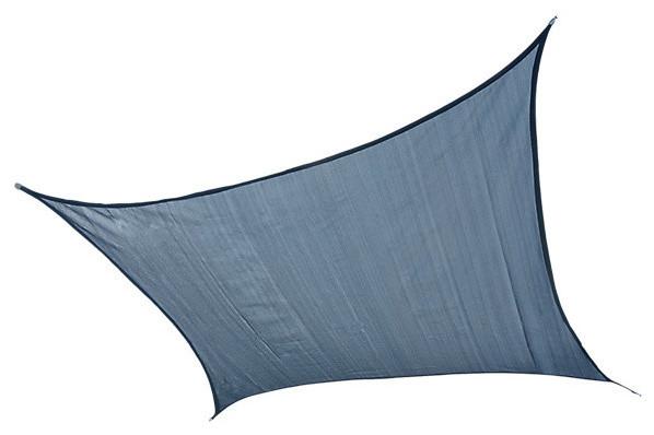Shadelogic Sun Shade Sail Heavy Weight Square, Sea Blue, 12&x27;.