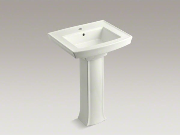 KOHLER Archer(R) pedestal bathroom sink with single faucet hole ...