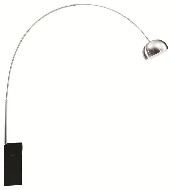 fine mod imports arch lamp big base black - Arc Floor Lamps