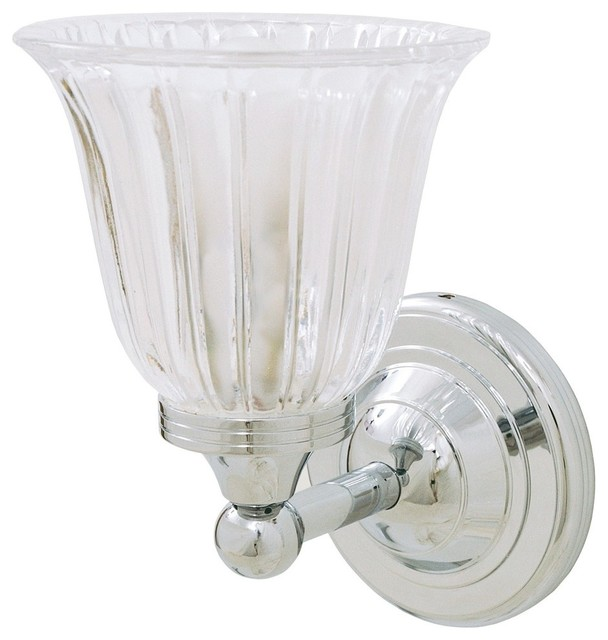 Ritz Gl Bathroom Wall Sconce Chrome