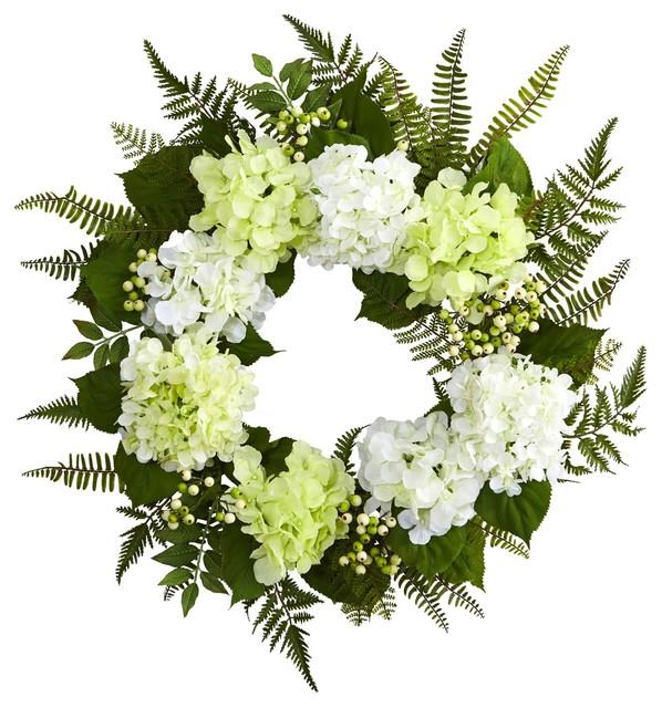 24 Inch Hydrangea Berry Wreath No4