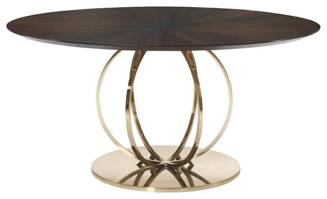 Sabine Parquet-Top Round Pedestal Table.