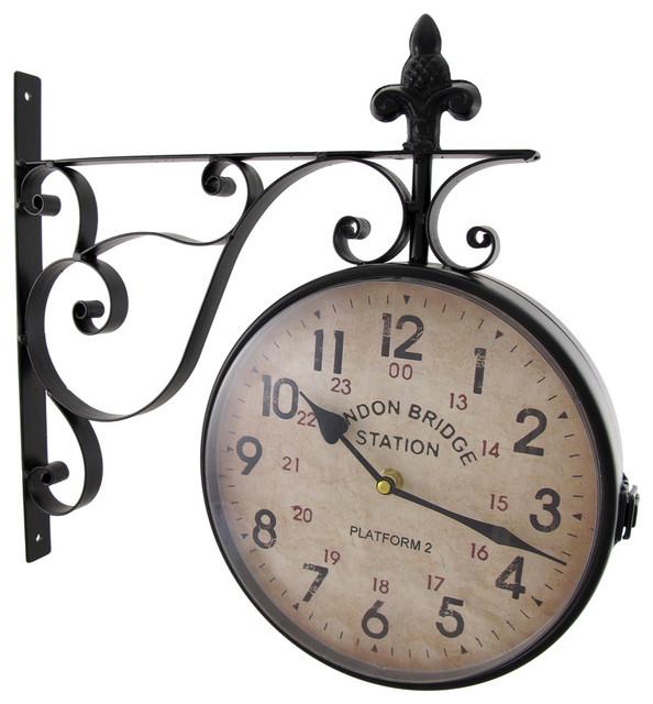 London Bridge Station Double Sided Wall Mounted Clock Traditional Clocks