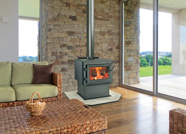 Heatilator Wood Burning Stove Fireplace Modern Indoor Fireplaces Melbourne By Jetmaster