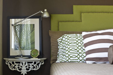 Green And Brown Bedroom