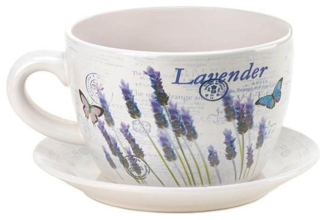 Lavender Fields Teacup Planter