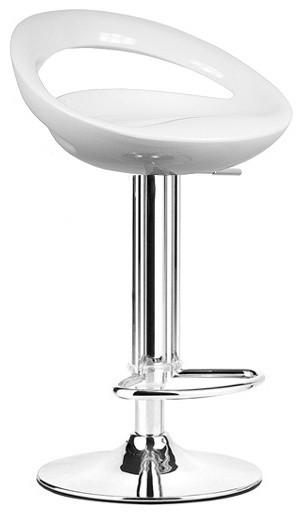 Rho Contemporary Adjustable Bar Stools, Vanilla White, Set Of 2 Contemporary  Bar