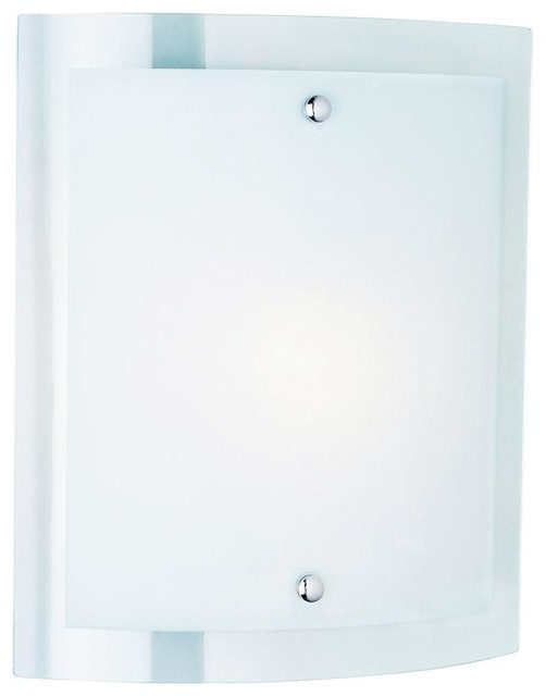 One Light Polished Chrome Clear Wall Plate Frosted Cover Gl