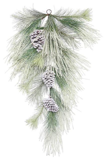 "30"" Frosted Norway Pine Teardrop."