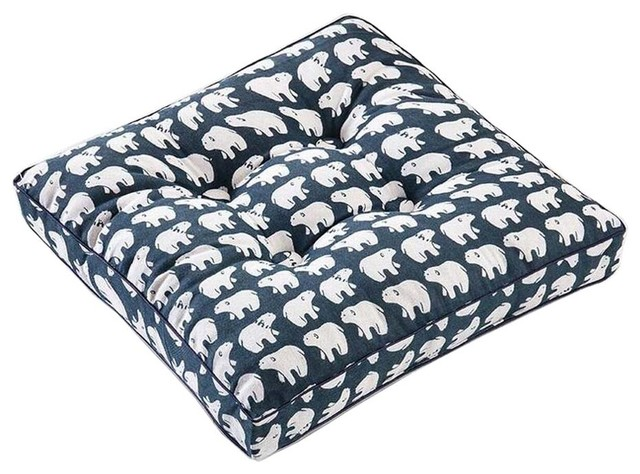 Charmant Bear, Square Seat Cushion Floor Pillow Thickened Chair Pad Tatami   Rustic    Seat Cushions   By Blancho Bedding