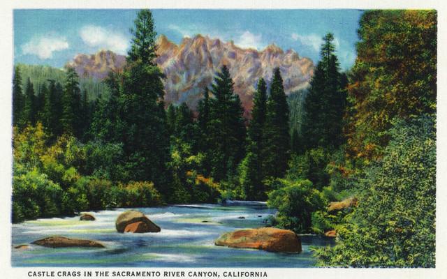 Quot Castle Crags In The Sacramento River Canyon Quot Print