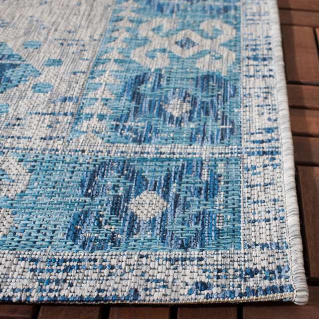 "Safavieh 5 ft. 3"" X 7 ft 7"" Indoor/Outdoor Abstract Coastal Area Rug"