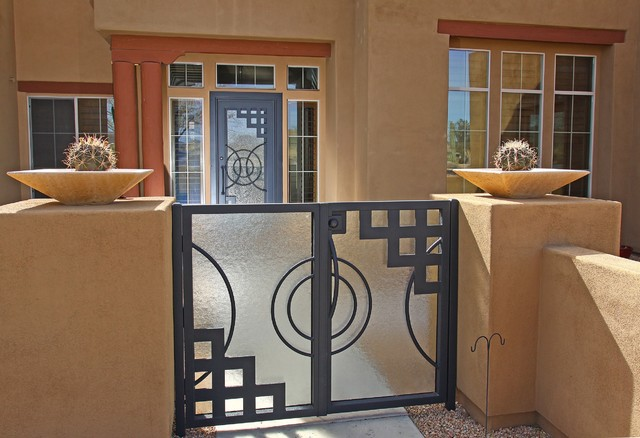 Nouveau Iron Gate By First Impression Security Doors Contemporary Exterior Phoenix on farmhouse exterior lighting