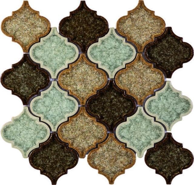 10x10 Xlyrics Land Crackle Glass Mosaic