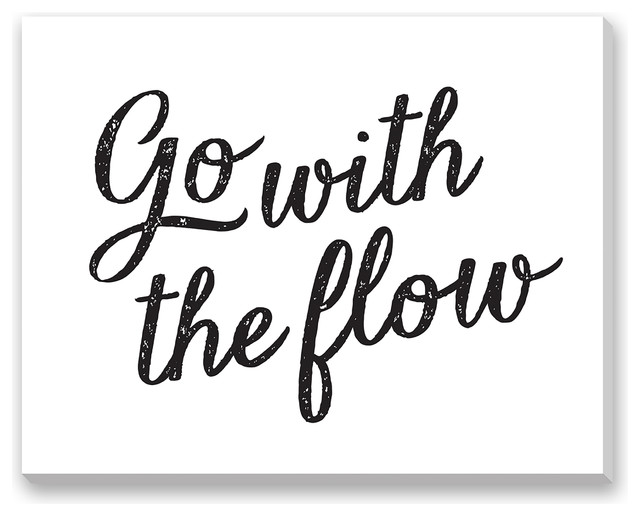 Shelley Weir 'Go With The Flow' Gallery Wrapped Canvas, Small