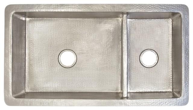 Cocina Duet Pro Copper Kitchen Sink, Brushed Nickel