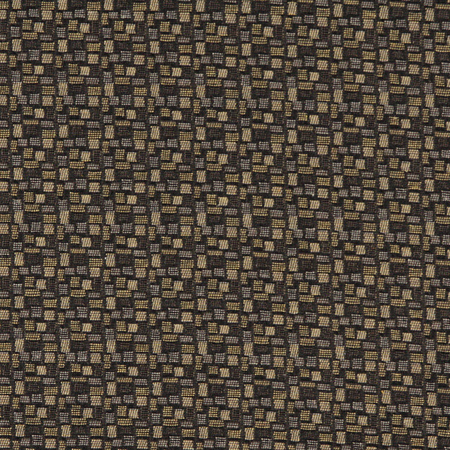 Black Gold Grey Geometric Rectangles Durable Upholstery Fabric By ...