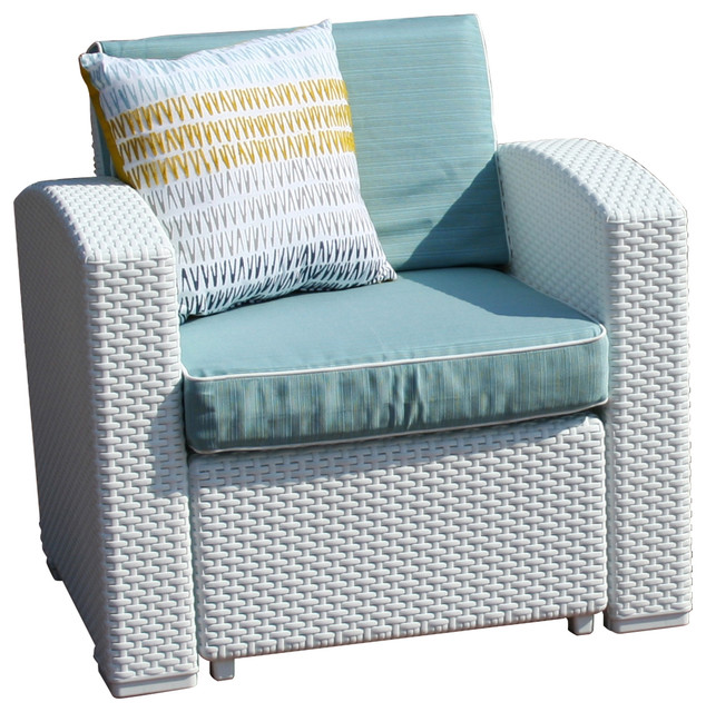 Strata Furniture Cielo Patio Chair Ivory Fabric Outdoor
