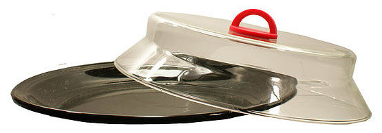 Progress Lighting Archie 3 Light 8 75 In Polished Chrome: Glass Microwave Plate Cover