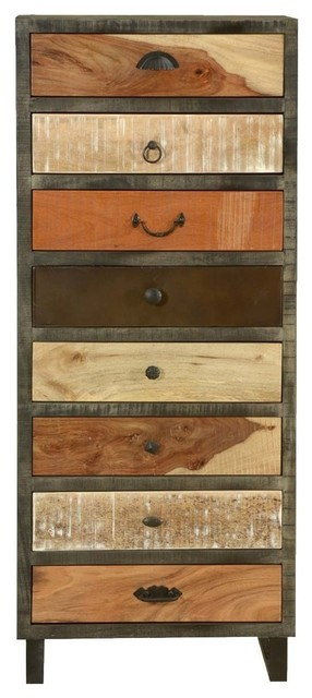 Waco Wooden Patches Mango Wood 8 Drawer