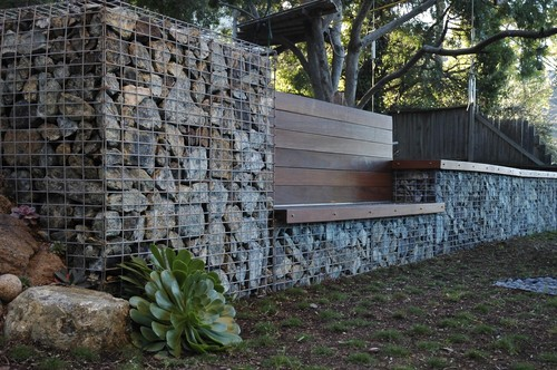 Serpentine Stone contemporary landscape