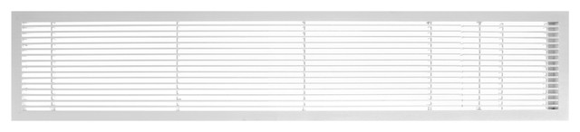 "Ag10 6""x30"" Aluminum Fixed Bar Air Vent Grille, White-Matte."