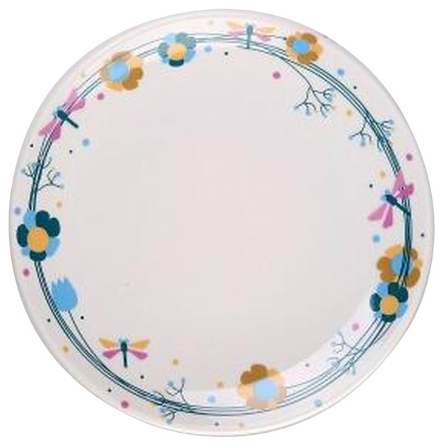 Set Of 2 Ceramic Dinner Plates Beautiful Ceramic Dishes Steak Plate,  Dragonfly   Contemporary   Dinner Plates   By Blancho Bedding