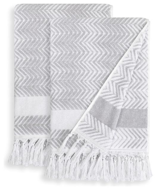 4f8ec24d21c4 Linum Home Textiles Assos Bath Towels, Set of 2 - Contemporary ...