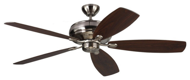 Embassy Max Ceiling Fan, Brushed Steel, 60.